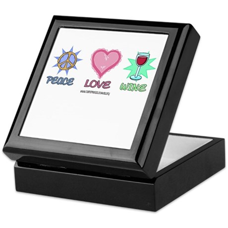 Peace Love & Wine Keepsake Box