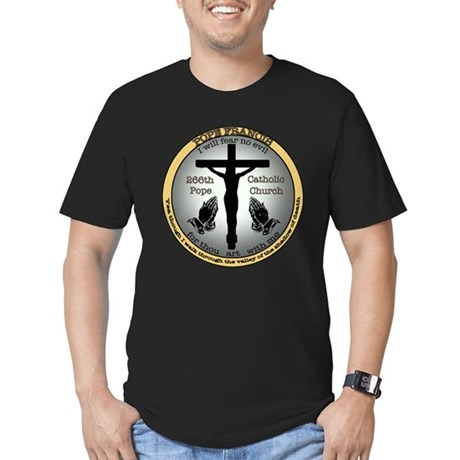 Pope Francis Men's Fitted T-Shirt (dark)