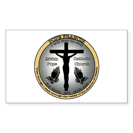 Pope Francis Sticker (Rectangle)