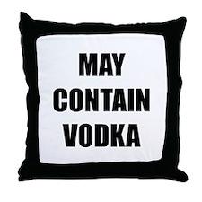 Contain Vodka Throw Pillow