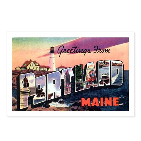 Portland Maine Greetings Postcards (Package of 8)