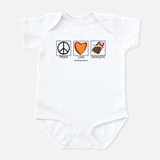 PEACE LOVE & CHOCOLATE Infant Bodysuit
