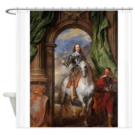 Royalty on a White Horse Shower Curtain