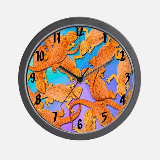 Bunches of Beardies Wall Clock