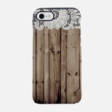 shabby chic lace barn wood iPhone 7 Tough Case