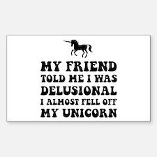 Delusional Unicorn Decal