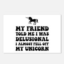 Delusional Unicorn Postcards (Package of 8)