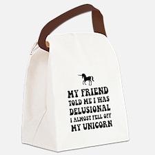 Delusional Unicorn Canvas Lunch Bag