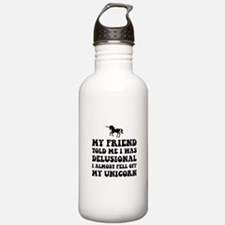 Delusional Unicorn Water Bottle