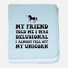 Delusional Unicorn baby blanket