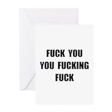 Fuck You Greeting Card
