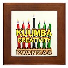 Kuumba (Creativity) Kinara Framed Tile