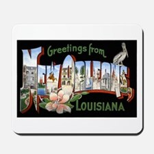 New Orleans Louisiana Greetings Mousepad