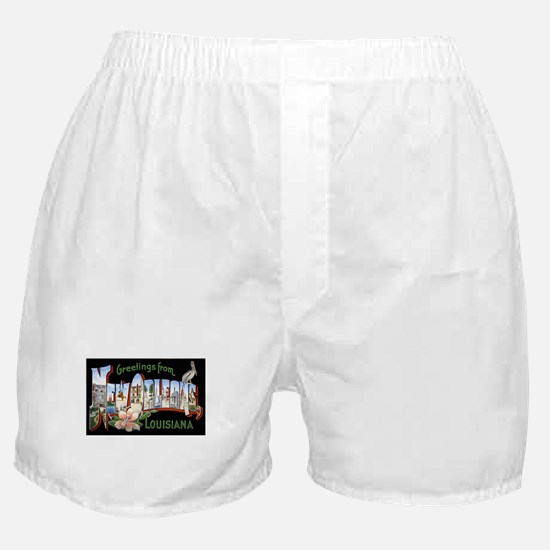 New Orleans Louisiana Greetings Boxer Shorts