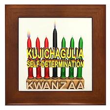 Kujichagulia (Self Determination) Kinara Framed Ti