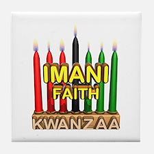 Imani (Faith) Kinara Tile Coaster