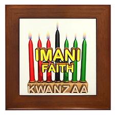 Imani (Faith) Kinara Framed Tile