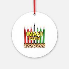 Imani (Faith) Kinara Ornament (Round)