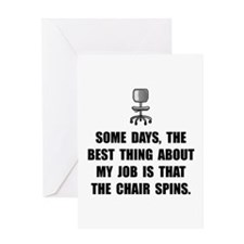 Job Chair Spins Greeting Card