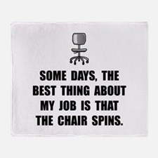 Job Chair Spins Throw Blanket