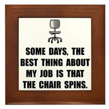Job Chair Spins Framed Tile