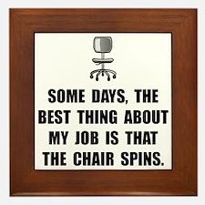 Job Chair Spins Framed Tile