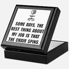 Job Chair Spins Keepsake Box