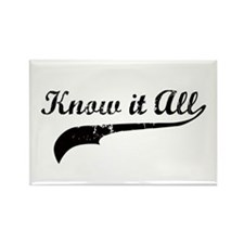 Know it all Rectangle Magnet
