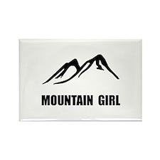 Mountain Girl Rectangle Magnet (10 pack)