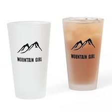 Mountain Girl Drinking Glass