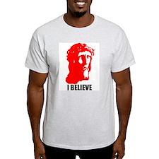 I BELIEVE Ash Grey T-Shirt