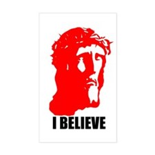 I BELIEVE Rectangle Decal