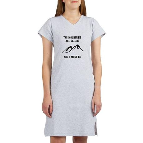 Mountains Must Go Women's Nightshirt