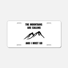Mountains Must Go Aluminum License Plate
