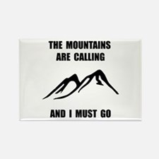 Mountains Must Go Rectangle Magnet (10 pack)