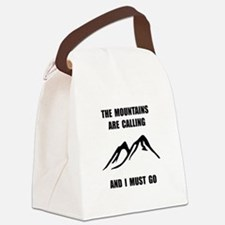 Mountains Must Go Canvas Lunch Bag