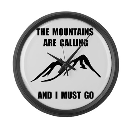 Mountains Must Go Large Wall Clock