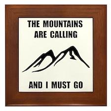 Mountains Must Go Framed Tile