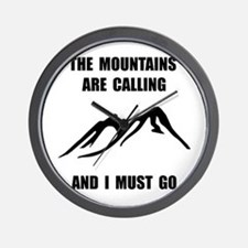 Mountains Must Go Wall Clock