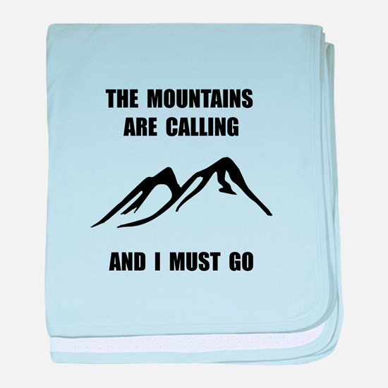 Mountains Must Go baby blanket