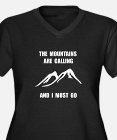 Mountains Must Go Plus Size T-Shirt
