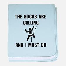 Rocks Calling Go baby blanket