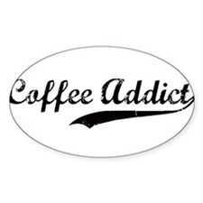 Coffee Addict Oval Decal