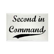 Second in Command Rectangle Magnet