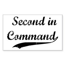 Second in Command Rectangle Bumper Stickers