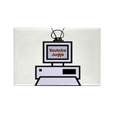 Youtube Junkie Rectangle Magnet (10 pack)