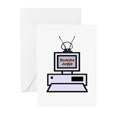 Youtube Junkie Greeting Cards (Pk of 10)