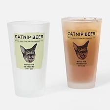 Crazy Catnip Beer light Drinking Glass