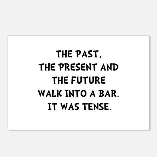 Tense Walk Into Bar Postcards (Package of 8)