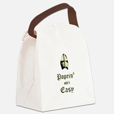 Popein aint Easy Canvas Lunch Bag